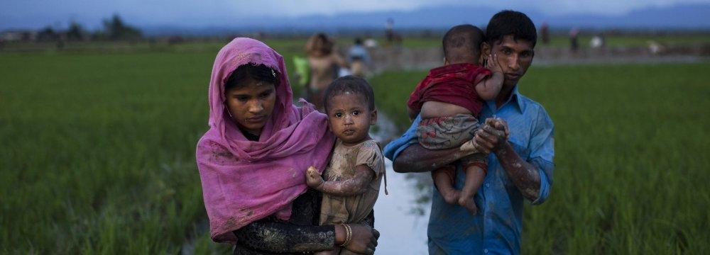 The violence has sent tens of thousands of Rohingya fleeing across the border into Bangladesh