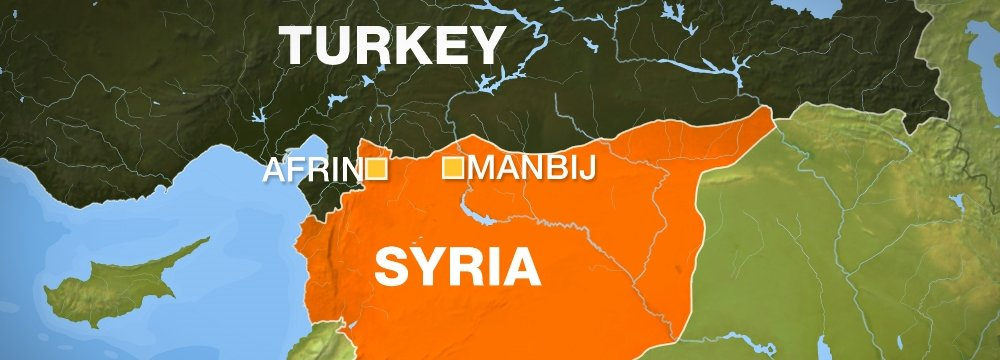 Turkey Urges US to Withdraw From Syria's Manbij
