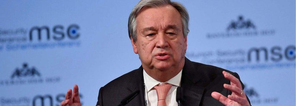 UN Chief: Korean Nuclear Crisis, Middle East Quagmire Eroding Global Security