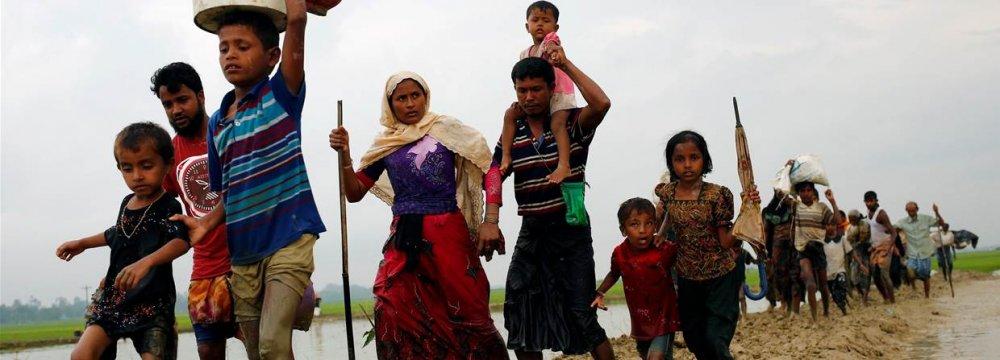 123,000 Rohingya Refugees Have Fled Myanmar