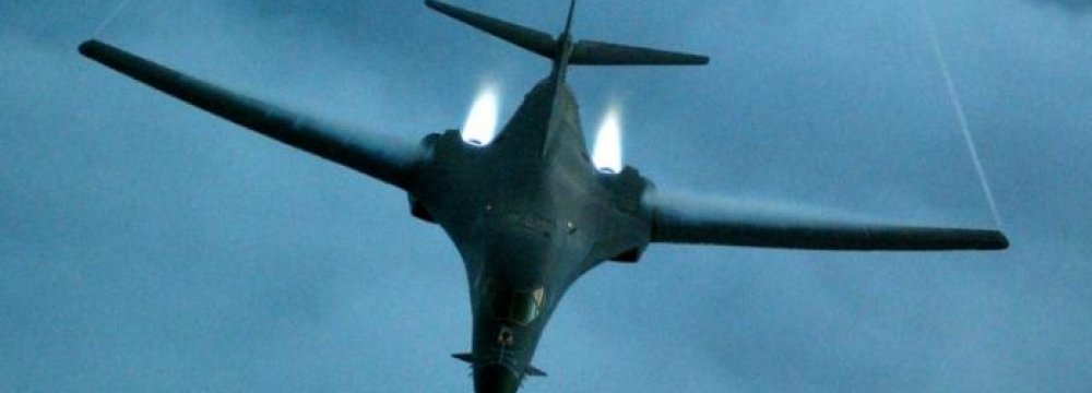 US Bombers Challenge China in South China Sea Flyover