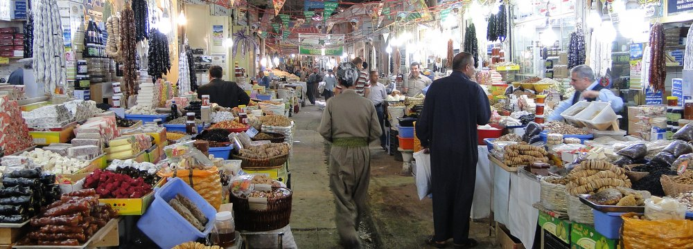Iran's share in the Iraqi market stood at 19.7% in March 2016-17.