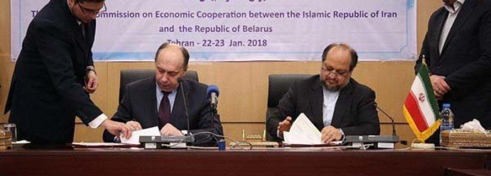 Iran, Belarus Sign Economic Roadmap