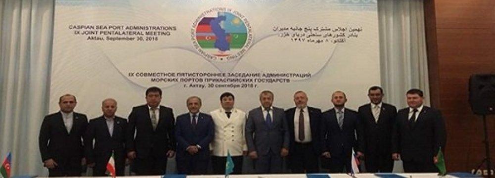 Caspian Port Directors Conclude Talks in Aktau