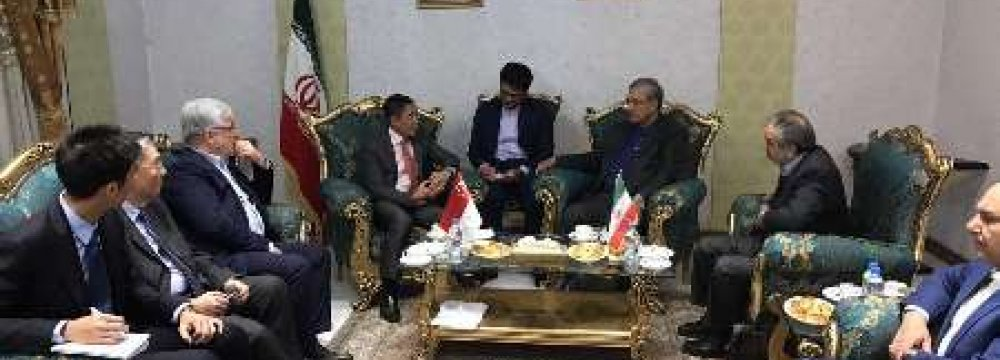 Iran-Singapore Ties Enjoy High Potential