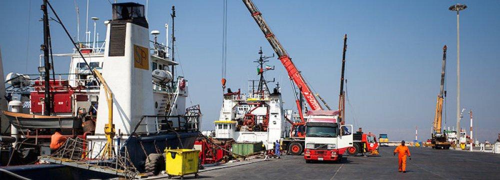 Kish Exports Up, Imports Down