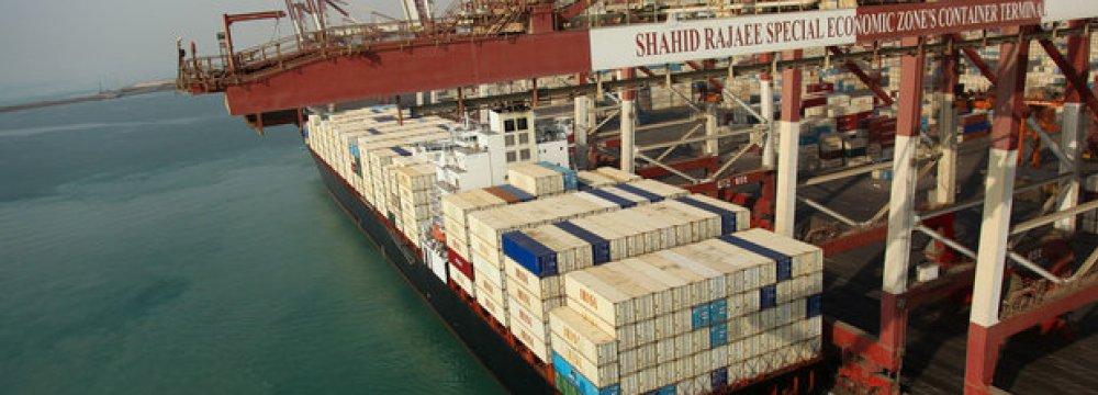 Iranian Ports Throughput  Up 9.4%