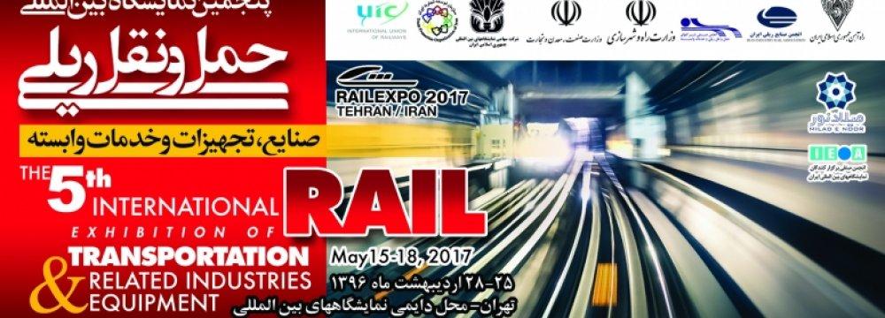 Tehran to Host Int'l Rail Transport Expo