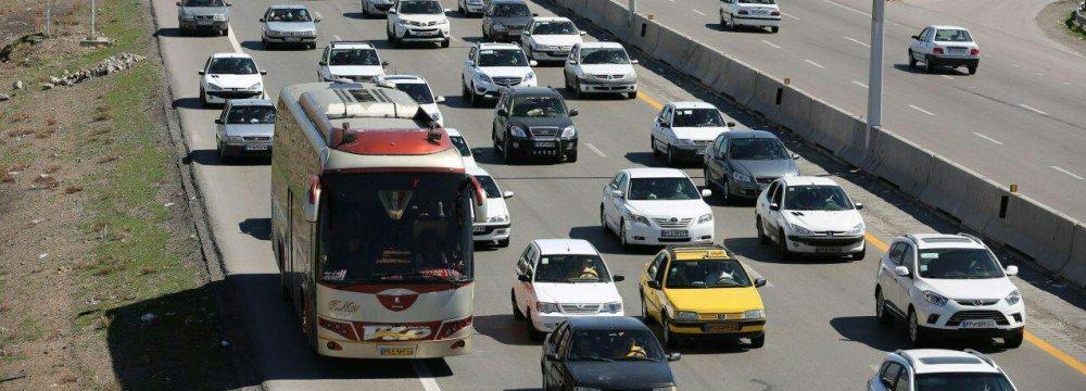 Rise in Iran's Interprovincial Road Trips