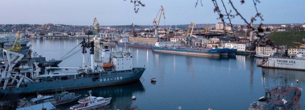 A seaport in Sevastopol, Crimea