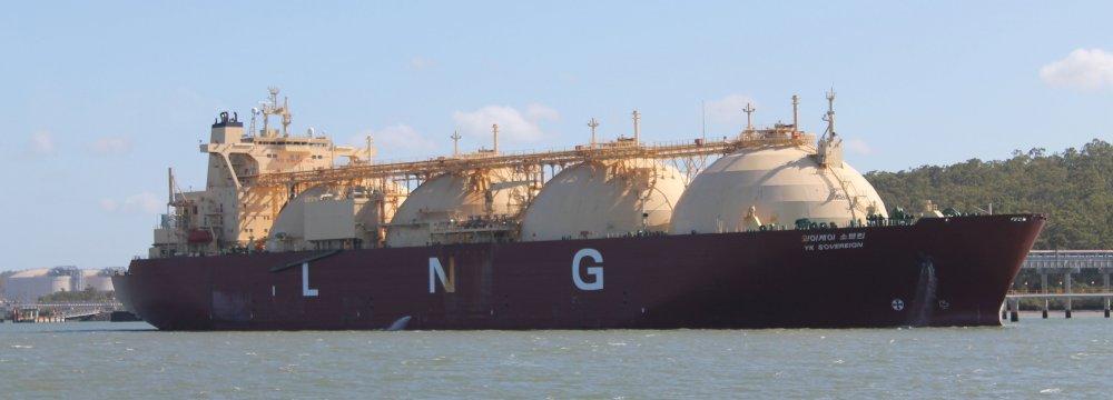 Sinopec Receives  1st Aussie  LNG Cargo