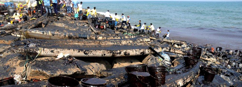 Kuwait Battling Oil Spill in Persian Gulf