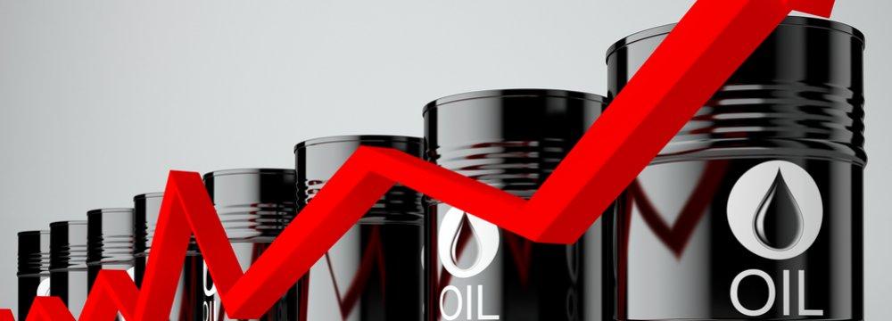Oil Up on Weaker Dollar