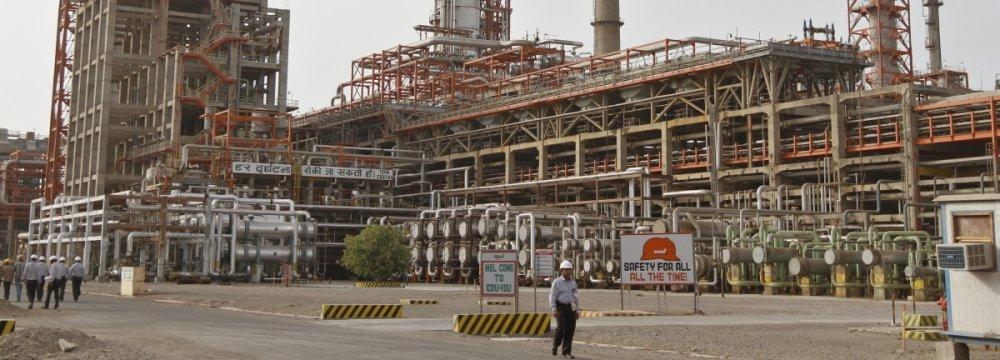 Iran's oil refining capacity is 1.8 million bpd.