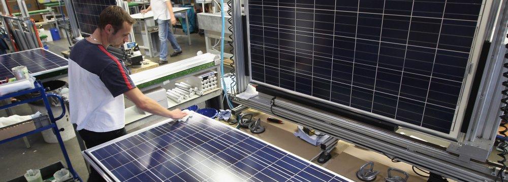 Shiraz Solar Panel Plant Under Construction