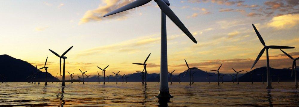 US offshore wind turbines.