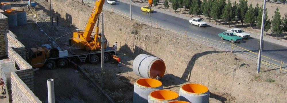 Expanding Tehran's water supply network is facing operational hurdles.