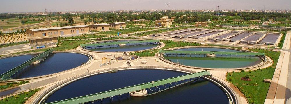 Nat'l Wastewater Treatment  Capacity at 6.4 Million l/d