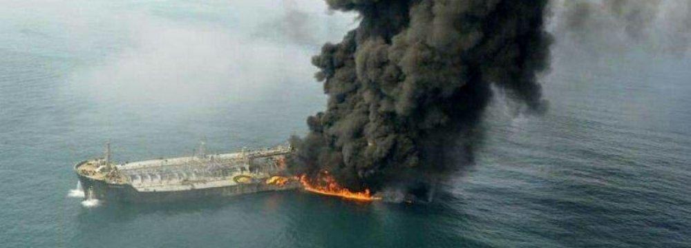 Iranian, Norwegian Insurers to Compensate Oil Tanker Blaze
