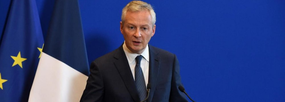 French Finance Minister: Europe Under US Pressure Over INSTEX