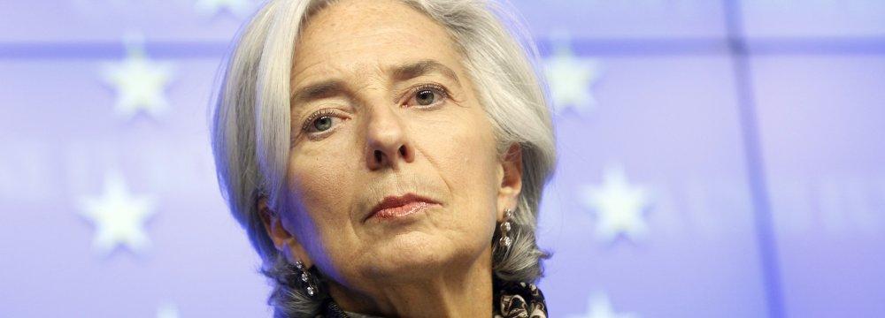 Lagarde: IMF Policy Toward Iran Unchanged