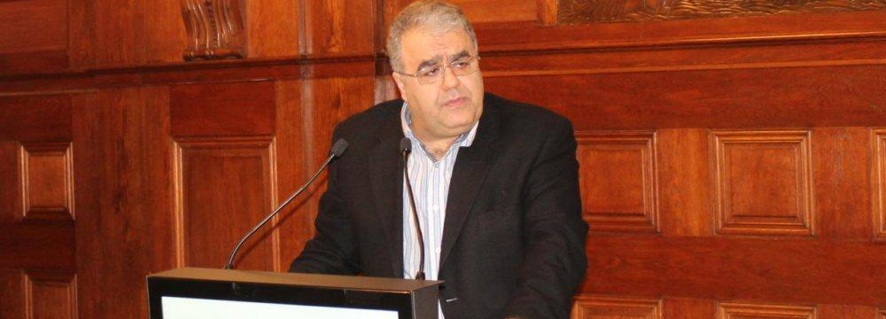 TCCIMA Secretary-General Bahman Eshqi speaking in Vienna on Nov.16