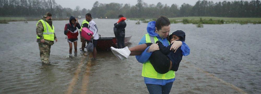 Hurricane Florence Makes Landfall in N. Carolina