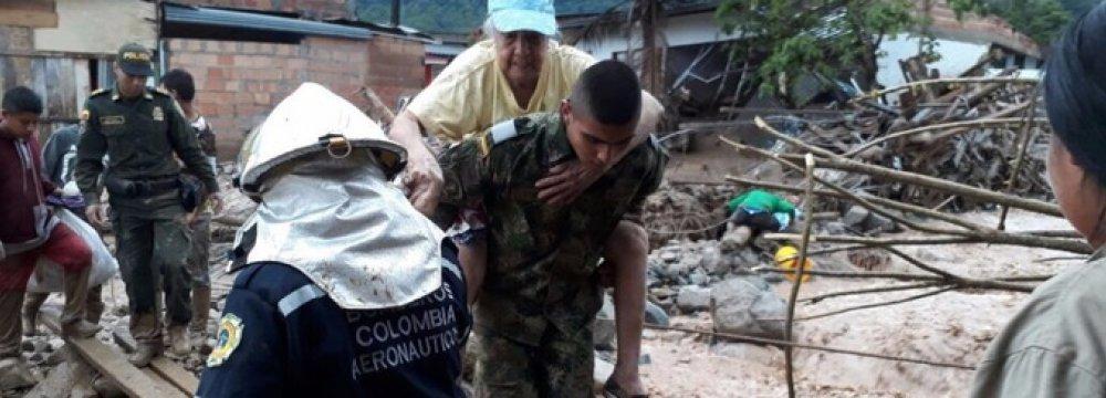 Over 250 Dead in Colombia Landslide