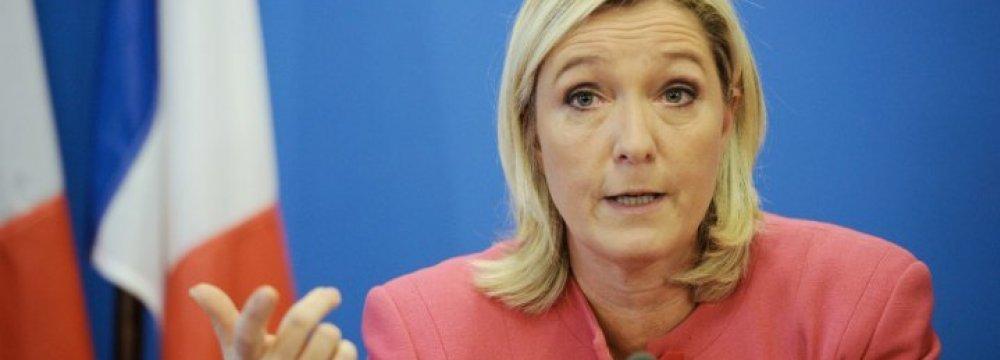 Le Pen's Presidential Election Program: Exit Schengen