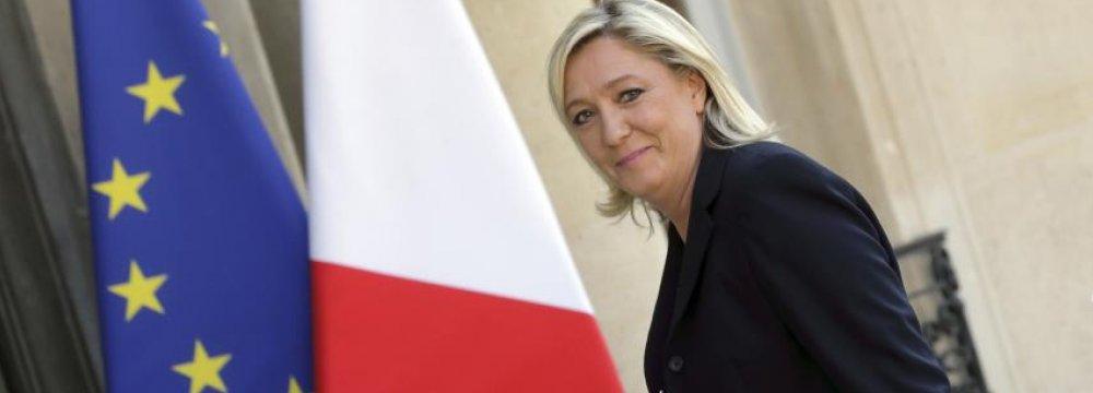 EU Parliament Seeks Repayment by Le Pen