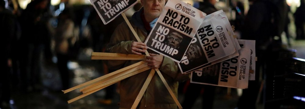 Anti-Trump Protest in UK