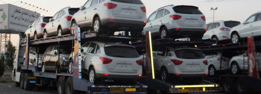 Iran Auto Imports Grow 54% over