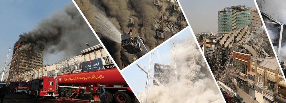 Dozens Feared Dead in Tehran Plasco Building Fire, Collapse