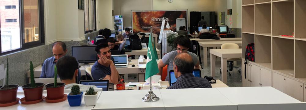 Finnova co-working space in Tehran.