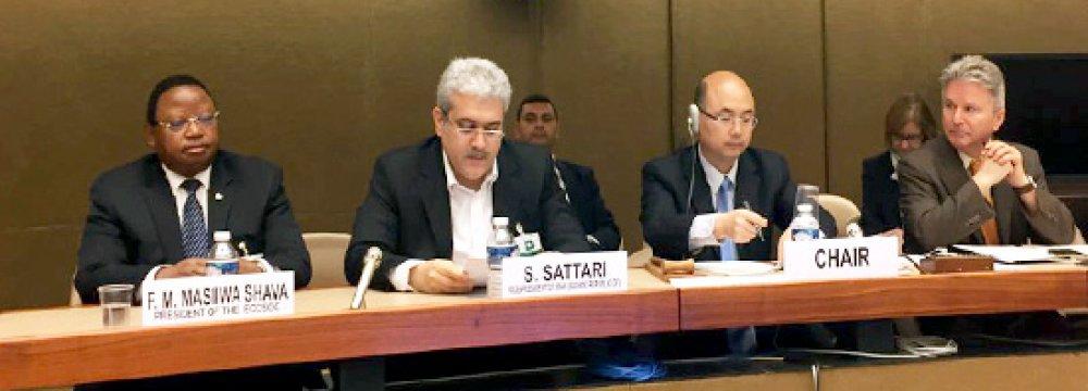 Sattari Attends UN Tech Meet
