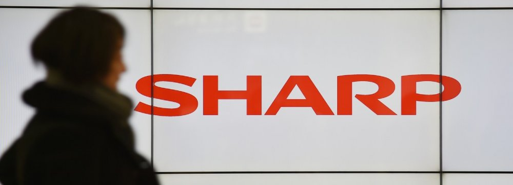Sharp's screen business is helping the company.