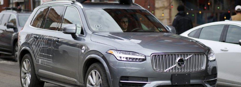 An Uber self-driving vehicle