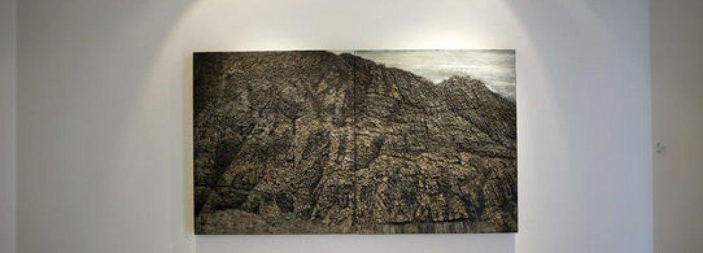 Paintings of Mount Bisotoun at Assar Gallery