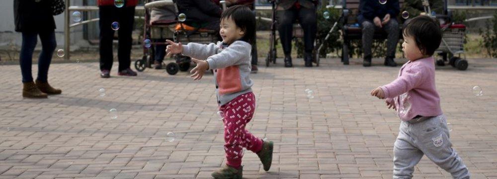 China's  Birthrate Rises