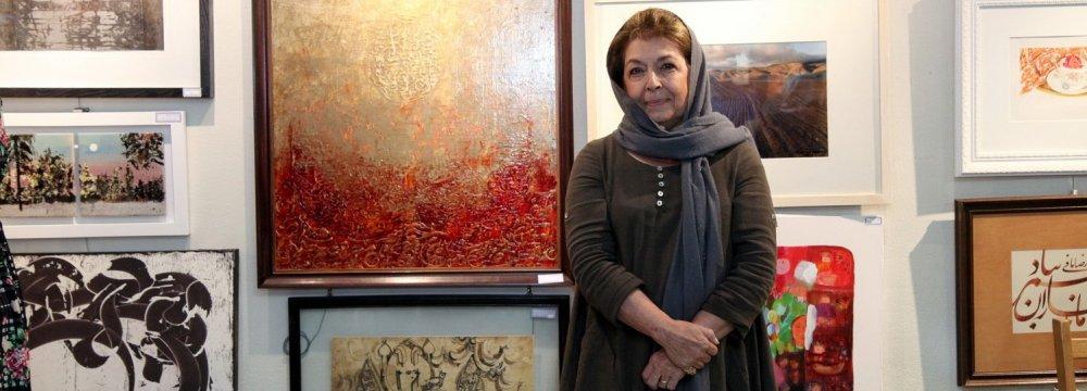 Lili Golestan at the last year's exhibit