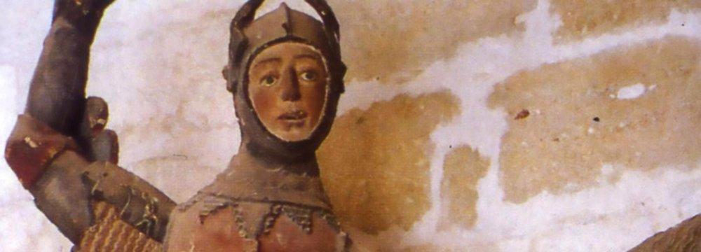 Teacher's Restoration of St. George Effigy Goes Wrong