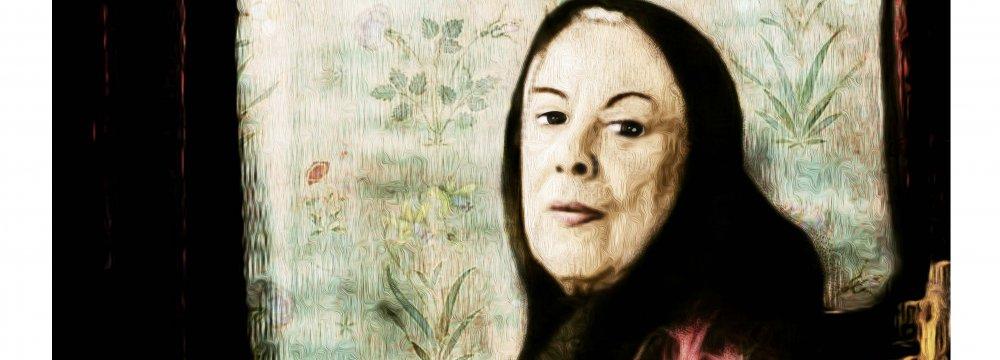A portrait of Simin Daneshvar