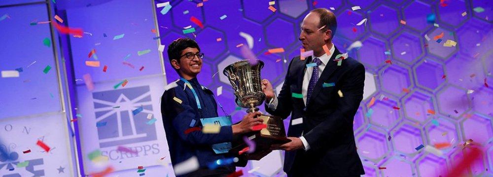 Karthik Nemmani won the 2018 Scripps National Spelling Bee.