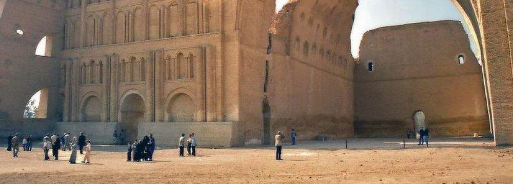 Arch of Ctesiphon near the modern town of Salman Pak, Iraq