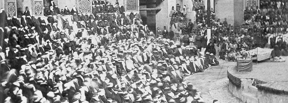 Tekyeh Dowlat was the famous Qajar venue for Ta'zieh performances.