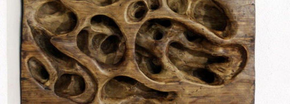 Display of Wooden, Fiberglass Sculptures