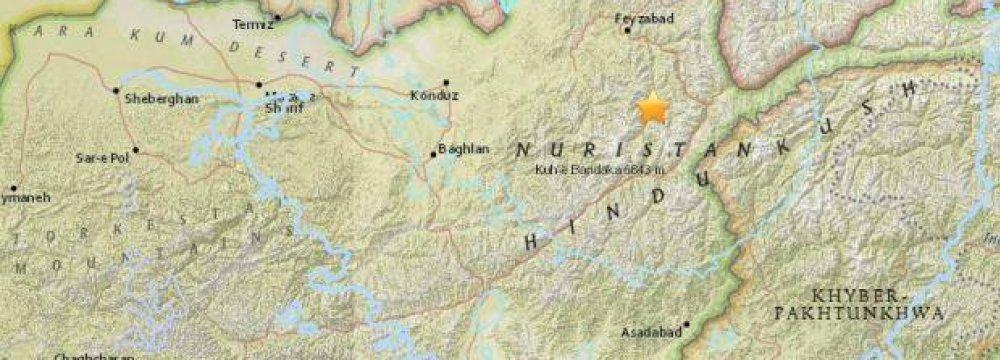 1 Dead in Af-Pak Earthquake