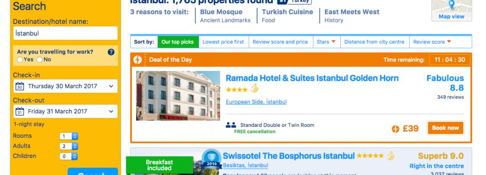 Turkish  Court Bans Booking.com