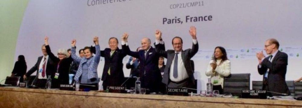 China, EU Reaffirm Paris Climate Commitment