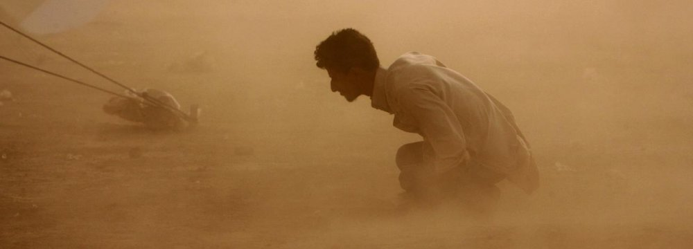 Intense dust storms frequently hit western Iranian provinces, particularly Khuzestan.